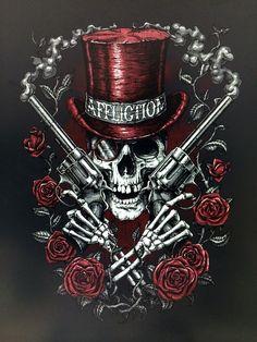 12 Designs from the Affliction Artist Den Skull Tattoo Design, Skull Tattoos, Dark Fantasy Art, Dark Art, Image Moto, Los Muertos Tattoo, Grim Reaper Art, Totenkopf Tattoos, Skull Pictures