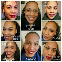 love when you can see LipSense colors on real women...not just swatches!