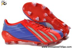Discount Adidas F50 adizero TRX FG TPU Red Blue-White Grey Soccer Boots On Sale