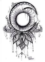 Resultado de imagen de mandala sun moon tattoo