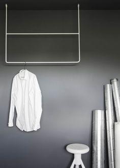 Clothing rail rectangle white – ANNALEENAS HEM AB