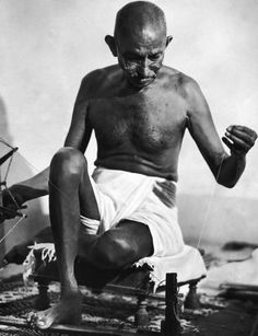 On this day in 1948, Mahatma Gandhi was assassinated. There had been five previous, unsuccessful assassination attempts before that day. Just two years earlier, Margaret Bourke-White traveled to India to capture his portrait. See more: http://ti.me/1C9Be1M  (Margaret Bourke-White—The LIFE Picture Collection/Getty Images)