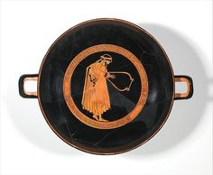Attributed to the Dokimasia Painter | Terracotta kylix (drinking cup) | Greek, Attic | Classical | The Met