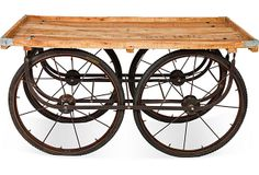 "Peddler's Cart  The Wooden House  57""L x 30.25""W x 30.25""H  ($1,895.00)   $1,299.00  OneKingsLane.com"