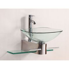 Kokols WF-05 Universal Polished Chrome  Wall Mount Single Bowl Bathroom Sinks  | eFaucets.com