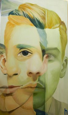 "Saatchi Art Artist Hannah Stone; Painting, ""Ghost (Self Portrait)"" #art"