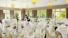Our John Broderick Suite perfect for weddings of up to 280 guests. Our John Broderick Suite enjoys beautiful views of the hotels landscaped gardens. Wedding Venues, Wedding Day, Garden Landscaping, Perfect Wedding, Hotels, Gardens, Table Decorations, Weddings, Beautiful
