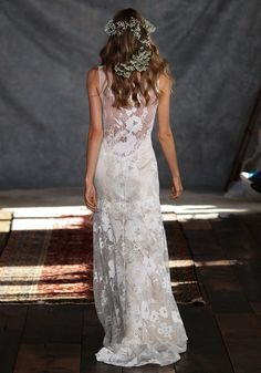 Gardenia Lace Wedding Dress Romantique by Claire Pettibone runway full back