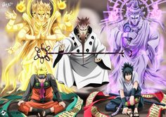 Sage of Six Paths, Naruto & Sasuke