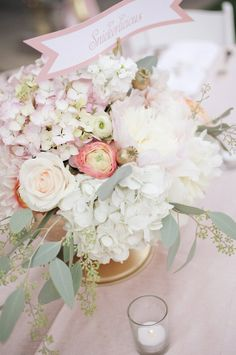 blush & gold wedding details. If we do flowers for the reception.