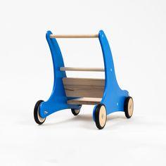"""Puppenwagen - Lauflernwagen """"Sharky"""" Blau mit Bremssystem - ein Designerstück von Die-Spielzeugbande bei DaWanda"""