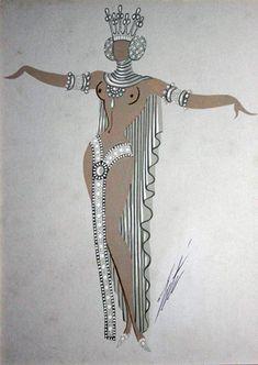 Erte.  art Deco