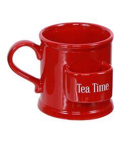 Loving this Red 'Tea Time' Mug on #zulily! #zulilyfinds