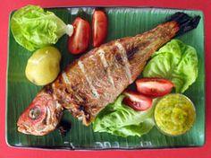 Recette - Vivaneau grillé avec trempette à la mangue | SOS Cuisine