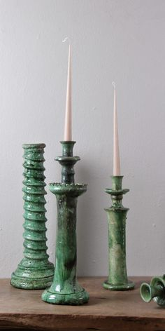 Tamegroute Candlesticks | R699.00 - R1,599.00 | www.thestorer.co Lantern Candle Holders, Candle Stand, Candlestick Holders, Slab Pottery, Ceramic Pottery, Ceramic Painting, Ceramic Art, Sculpture Clay, Ceramic Sculptures