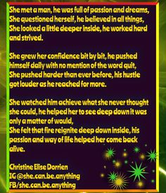 Check out my new PixTeller design! :: She met a man, he was full of passion and dreams, she ques...