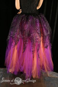 Adult tutu skirt Streamer floor length formal by SistersOfTheMoon