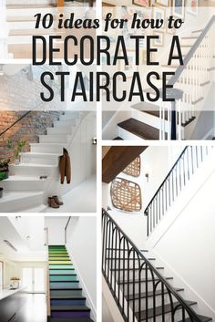 Ideas for how staircase decor - how to decorate the wall on your stairs to create a beautiful entryway or landing in your home.