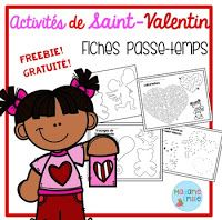 Day preschool Voici 4 fiches d - Valentines Day Activities, Holiday Activities, French Expressions, Core French, French Resources, French Immersion, Dyi Crafts, Saint Valentine, Free Activities