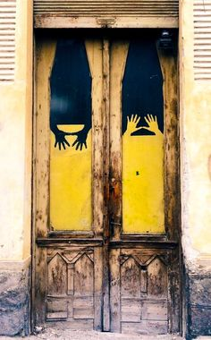 Sin is crouching at your door; it desires to have you, but you must rule over it.... Yellow door Cluj, Romania