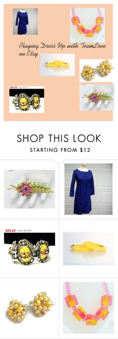 """Playing Dress Up with TeamLove on Etsy!"" by findcharlotte ❤ liked on Polyvore featuring vintage, women's clothing, women, female, woman, misses and juniors"