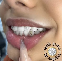 Gold playboy bunny tooth gem & crystal Halo Tattoo Collective
