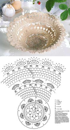 Best 6 Kira scheme crochet: Scheme crochet no. Vase Crochet, Crochet Doily Patterns, Thread Crochet, Crochet Designs, Crochet Doilies, Crochet Flowers, Crochet Decoration, Crochet Accessories, Creations