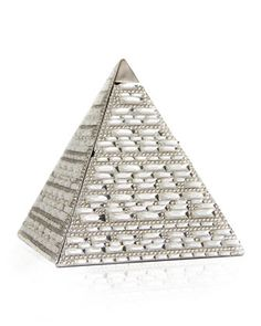 Austrian Crystal Pyramid Clutch Bag, Silver Rhine by Judith Leiber Couture at Neiman Marcus.