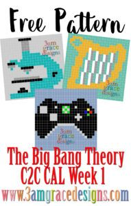 Happy National Pi Day! Welcome to our Big Bang Theory C2C CAL! The official Hashtag for our CAL is: #3amgracedesignsBBTCAL. Please share your squares with us on Instagram, Facebook, and social media! Week One is for Amy Farrah Fowler — she's adorable, enthusiastic, & spunky! She always seems to have a surprise up her sleeve. …