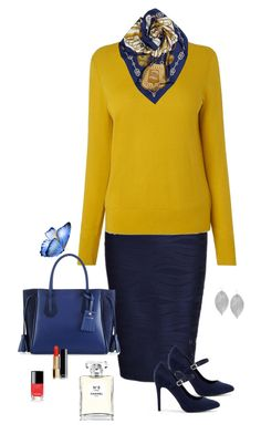 Just for Me by carolannstyle on Polyvore featuring WithChic, New Look, Longchamp, Humble Chic, Hermès and Chanel