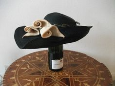 Vintage hat with lilies by THETUBE on Etsy, $68.00