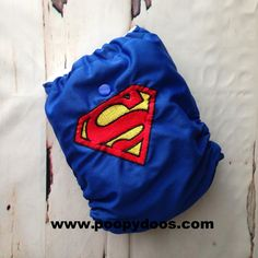 Superman Embroidered AI2 :: Poopy Doo Cloth Diapers