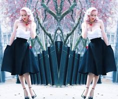 Corset skirt from Pinup Girl Clothing