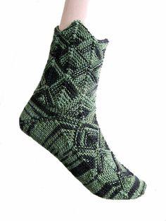Sprookjessokken groen/zwart maat 37/38