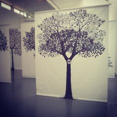 Wander through an inky forest at #dcadundee!