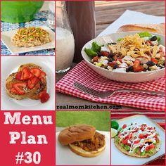 RMK menu plan week 30 with free printable shopping list