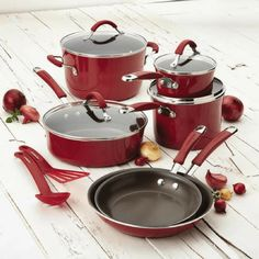Rachael Ray Cucina Hard Enamel Nonstick 12-Piece Cookware Set Just $87.19! Down From $150! PLUS FREE Shipping!