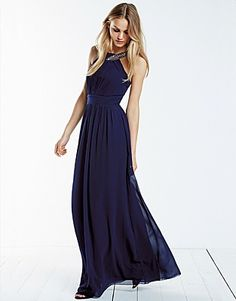 Little Mistress Maxi Dresses, Price: GBP 70.00, Little Mistress Petite Embellished Maxi Dress
