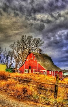 Two of my loves, an old barn and a storm... dreaming.