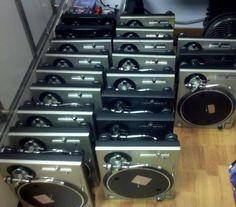 A Technics hoarder. #recrdplayer #turntables #technics http://www.pinterest.com/TheHitman14/the-record-player-%2B/