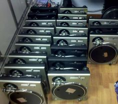 A Technics hoarder. #recrdplayer #turntables #technics http://www.pinterest.com/TheHitman14/the-record-player-%2B/