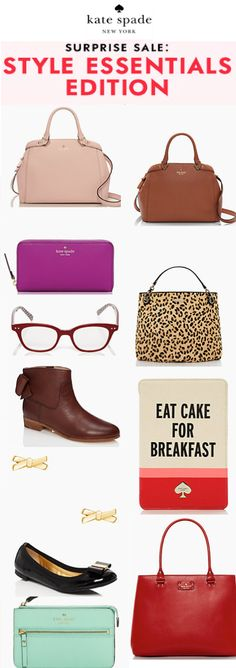 It's a Surprise Sale! enjoy up to 75% off on everyday essentials at Kate Spade. Ends 9/17. Click through for details. http://rstyle.me/ad/s3qjnn2bn