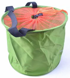 Accordion Fishing Bucket Folding Fabric Portable Water Pail Protective Net * Want to know more, click on the image.