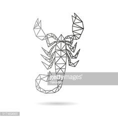 Scorpion abstract isolated on a white backgrounds, vector illustration
