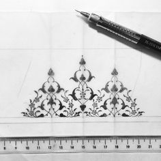 Drawing Process on Behance Islamic Art Pattern, Arabic Pattern, Pattern Art, Illumination Art, Arabesque Pattern, Persian Motifs, Drawing Process, Iranian Art, Turkish Art