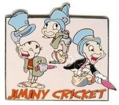 RARE-OLD-LE-Disney-Auctions-PINS-Jiminy-Cricket-Model-Sheet-3-Poses-lt-PInocchio