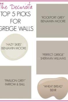 Neutral paint colors for the basement remodel