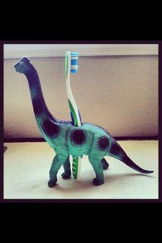 Toothbrush #kids holder craft #dinosaur