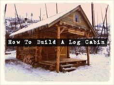 Mortgage Free for Life. Inspiring women shows how to build a log cabin by hand. - YouTube