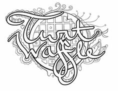 twat waffle coloring page by colorful language posted with permission